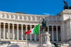 阿尔塔雷della帕特里亚,威尼斯广场,罗马意大利 库存图片