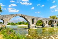 阿尔塔,希腊桥梁  库存照片