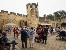 1309年阿尔尼克城堡公爵伯爵英国家其次居住了最大的northumberland percy s 免版税库存图片