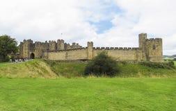 阿尔尼克城堡-在诺森伯兰角英国县  库存图片