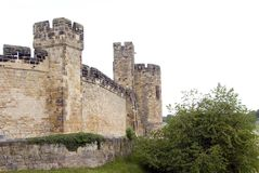 阿尔尼克西方城堡的墙壁 免版税图库摄影