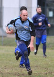 阿尔巴尼亚出生的意大利国家橄榄球s& 免版税库存照片