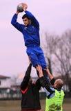 阿尔巴尼亚出生的意大利国家橄榄球s& 免版税图库摄影