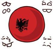 阿尔巴尼亚国家球 库存例证