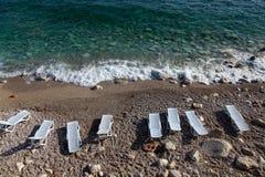 阿尔巴尼亚海滩 免版税库存照片