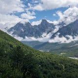 阿尔巴尼亚的被诅咒山 免版税库存图片