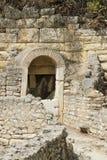 阿尔巴尼亚, Butrint,古老城镇废墟  图库摄影