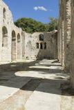 阿尔巴尼亚, Butrint,大教堂的废墟 免版税库存照片