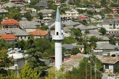 阿尔巴尼亚, Gjirokaster,尖塔 库存照片