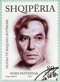 阿尔巴尼亚- 2015年:展示鲍里斯・帕斯捷尔纳克1890-1960,系列国际卓越的个性 免版税图库摄影