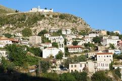 阿尔巴尼亚dhermi村庄 图库摄影