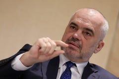 阿尔巴尼亚Edi Rama的总理 免版税图库摄影