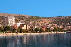 阿尔巴尼亚saranda 免版税库存图片