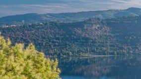 阿尔巴诺湖海岸全景在日出timelapse,罗马省, Latium,中央意大利的 影视素材
