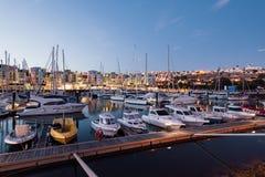 阿尔布费拉小游艇船坞,阿尔加威,葡萄牙 图库摄影