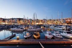 阿尔布费拉小游艇船坞,阿尔加威,葡萄牙 免版税库存照片