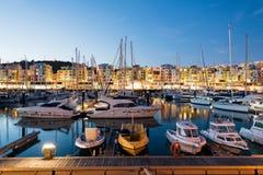 阿尔布费拉小游艇船坞,阿尔加威,葡萄牙 库存照片