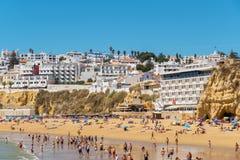 阿尔布费拉海滩 葡萄牙 库存图片