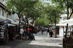 阿尔布费拉,购物街道5 免版税库存照片