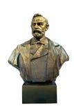 阿尔弗莱德贝恩哈德诺贝尔古铜色雕象 免版税图库摄影