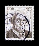 阿尔弗莱德Oelssner 1879-1962,德国劳工运动serie的个性,大约1989年 库存图片