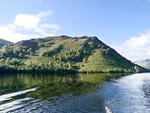 从阿尔斯沃特湖的Roscombe Rigg 库存照片