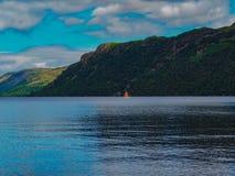 阿尔斯沃特湖,湖区 免版税库存图片