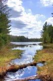 阿尔根金族湖视图 免版税库存图片