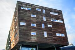 阿尔梅勒,荷兰- 10月18 :现代阿尔梅勒市中心建筑学  荷兰 免版税库存图片