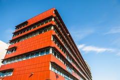 阿尔梅勒,荷兰- 10月18 :现代阿尔梅勒市中心建筑学  荷兰 免版税图库摄影