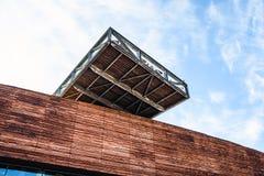 阿尔梅勒,荷兰- 10月18 :现代阿尔梅勒市中心建筑学  荷兰 库存图片