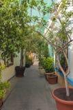 阿尔梅里雅,西班牙五颜六色的街道  库存照片