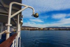 阿尔梅里雅,西班牙,看见从轮渡 图库摄影