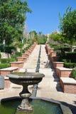 阿尔梅里雅Alcazaba庭院在安大路西亚,西班牙,在一个晴天 免版税库存图片