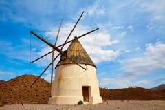 阿尔梅里雅Molino de los Genoveses风车西班牙 免版税库存照片