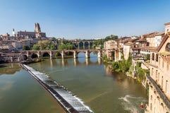 阿尔比中世纪市在法国 免版税库存照片