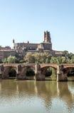 阿尔比中世纪市在法国 免版税库存图片
