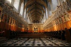 阿尔比大教堂内部 免版税库存照片