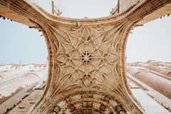阿尔比被加强的大教堂和城堡在法国 库存照片
