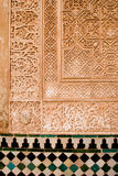 阿尔汉布拉伊斯兰艺术的详细资料 免版税库存照片