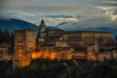 阿尔汉布拉卡洛斯de格拉纳达宫殿v 免版税库存照片