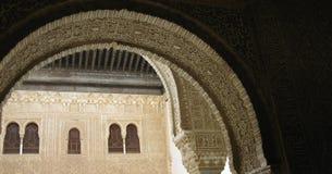 阿尔汉布拉成拱形城市格拉纳达西班牙 库存照片