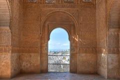 阿尔汉布拉格拉纳达西班牙视窗 库存图片