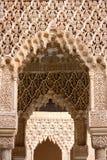 阿尔汉布拉结构艺术伊斯兰的格拉纳达 免版税库存照片