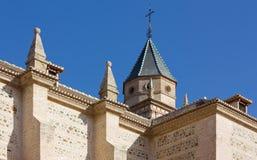 1581 1618年阿尔汉布拉被编译的教会格拉纳达极大的玛丽清真寺站点st是 库存图片