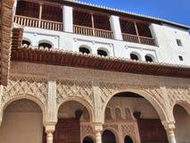 阿尔汉布拉阿拉伯雕刻详细资料 免版税库存照片