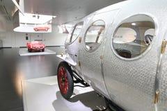 阿尔法・罗密欧在显示的40/60 HP Aerodinamica模型在历史博物馆阿尔法・罗密欧 免版税图库摄影