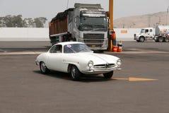 阿尔法・罗密欧Giulietta Sprint Speciale在利马 免版税库存照片