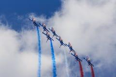 阿尔法喷气机Patrouille de法国 免版税图库摄影