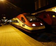 阿尔法摆动火车 免版税库存照片